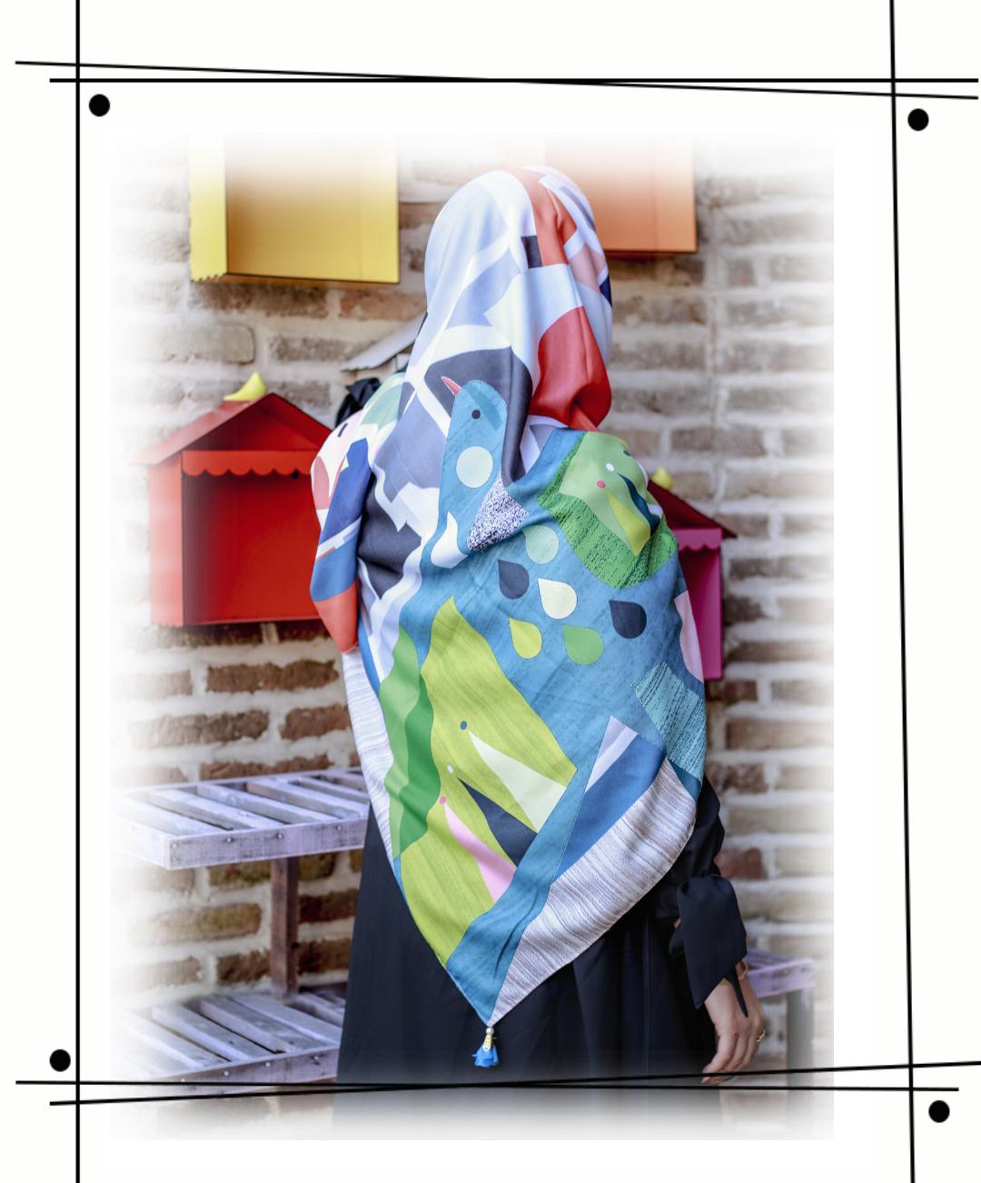 روسری مه دخت با طراحی زیبا و خاص